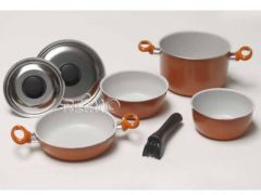 Camp4 Aluminium Topfset orange/braun