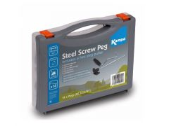 Kampa Steel Screw Peg Pack inkl. Herings-Rauszieher