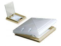 MPK Milchglas-Dachhaube 40x40cm beige