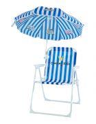 Kinderstuhl mit Sonnenschirm - blau
