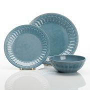 Vintage Blue - Teller-Service,  12 Teile