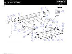 Thule Omnistore 5200 Endkappen Frontblende weiß