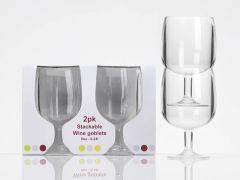 Weinglas aus Acryl - 2 stk.