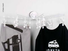 Wäschehalterung mit Saugnapf