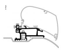 Thule Adapter Fiat/Peugeot/Citroen ab Bj. 2007 - 3tlg.