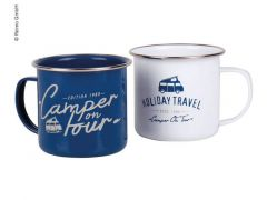 Holiday travel Emaille-Becher im Set